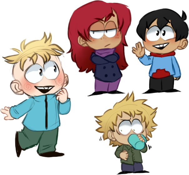 Cartman drawing truth. Butters stotch kenny mccormick