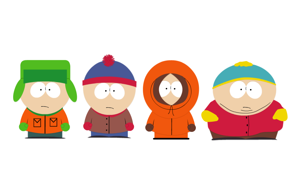 Cartman drawing vector. South park clipart at