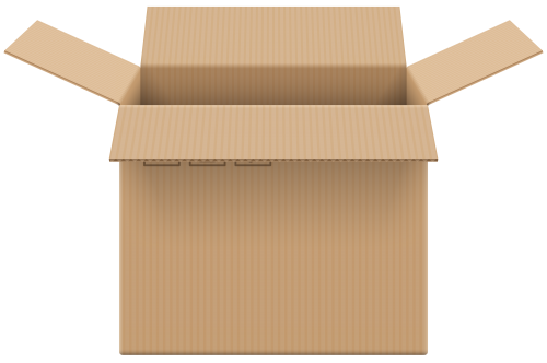 Cardboard boxes png. Box open clip art