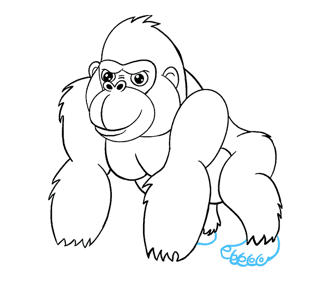 How to draw a. Drawing gorilla silverback image freeuse download