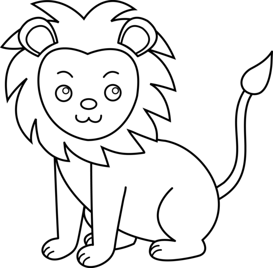 Drawing pandas outline. Free lion cartoon download