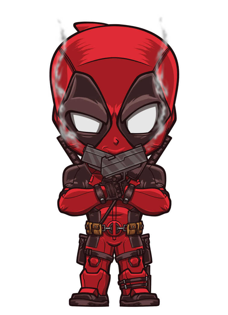 Drawing capes deadpool. By lord mesa lordmesa