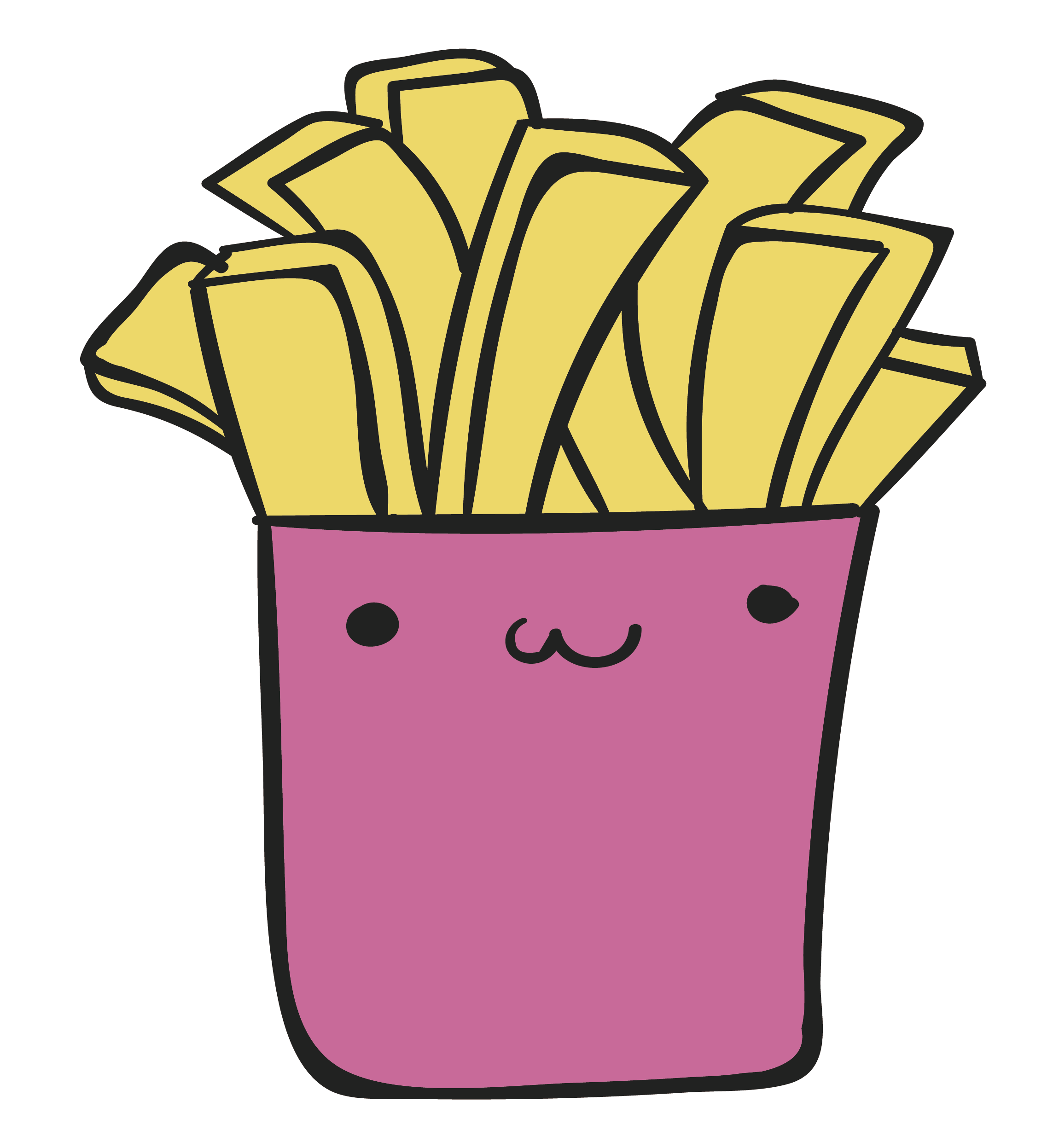 Carton drawing food chinese. French fries junk clip