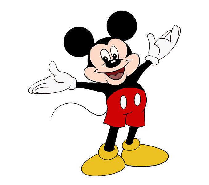 Carton drawing mickey mouse. How to draw easy