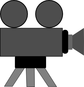 Carton drawing movie. Camera clip art at