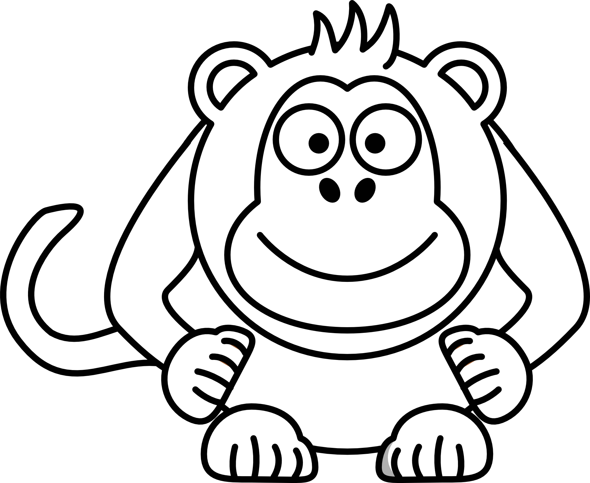 Carton drawing page. Coloring pages cartoon monkeys