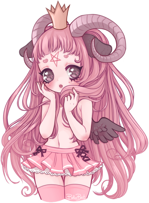 Baphomet transparent adorable. Anime mangaka magical girl