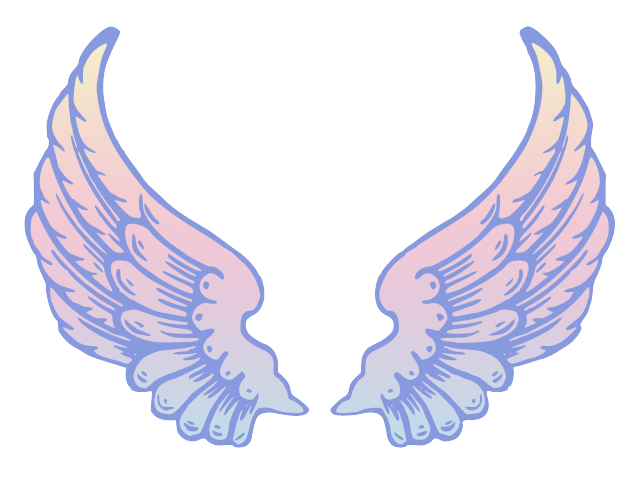 Cartoon angel wing png. Wings clipart x carwad