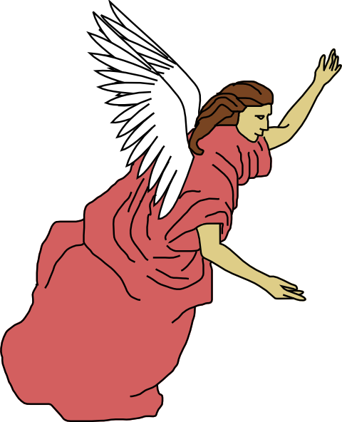 Cartoon angels png. Flying angel clip art