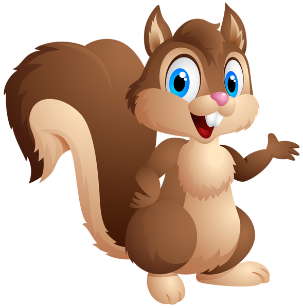Cartoon animal png. Cute squirrel clipart image