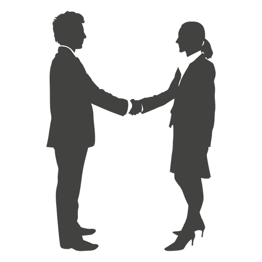 Cartoon arms holding hands vector png. Businessman shaking to woman
