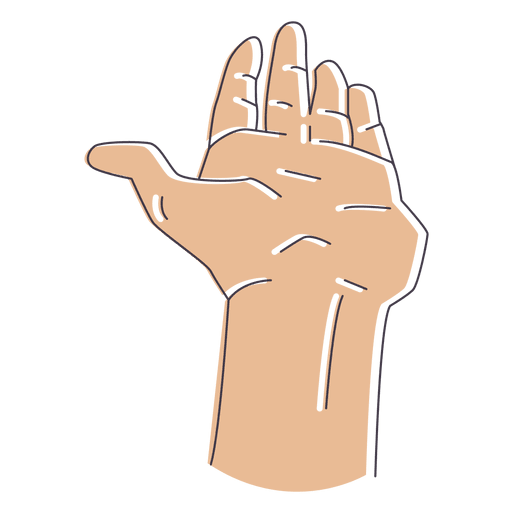 Cartoon arms holding hands vector png. Illustrated hand fingers transparent