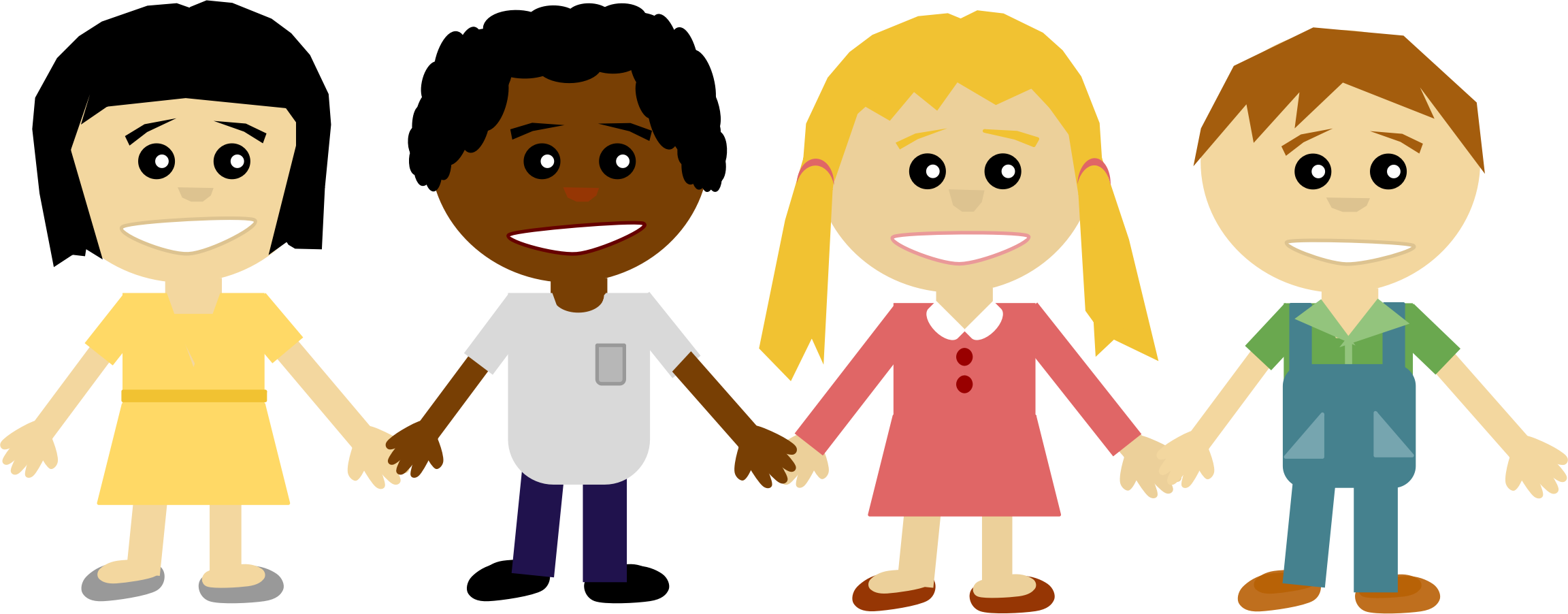 kids holding hands png