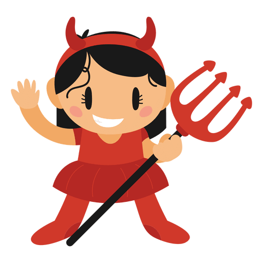 Halloween png cartoon. Devil costume transparent svg