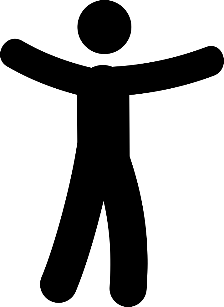 Cartoon arms png. Man with open svg