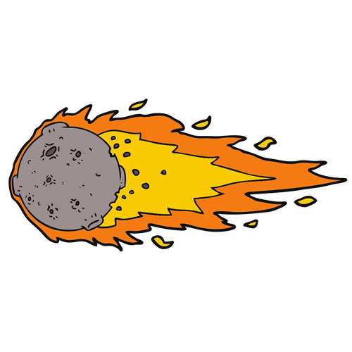 meteor cartoon png