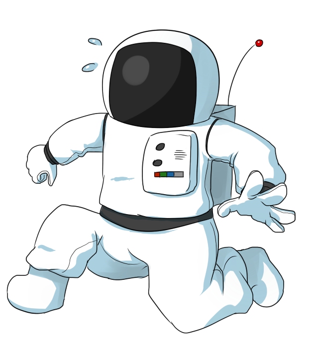 Cartoon pictures of astronauts. Astronaut clipart body image