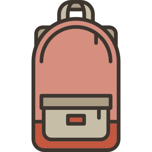 Satchel backpack shoulder fashion. Briefcase cartoon png banner