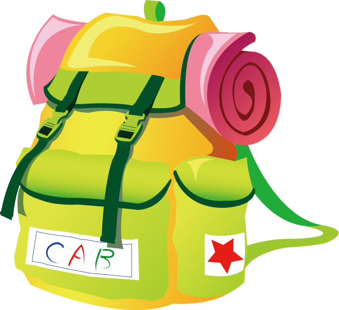 Cartoon backpack png. Free download vector clipart