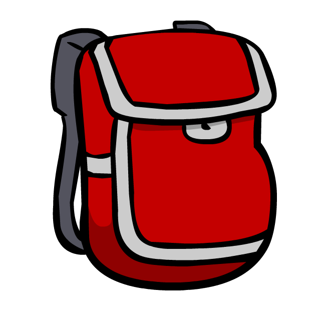 Cartoon backpack png. Image red club penguin
