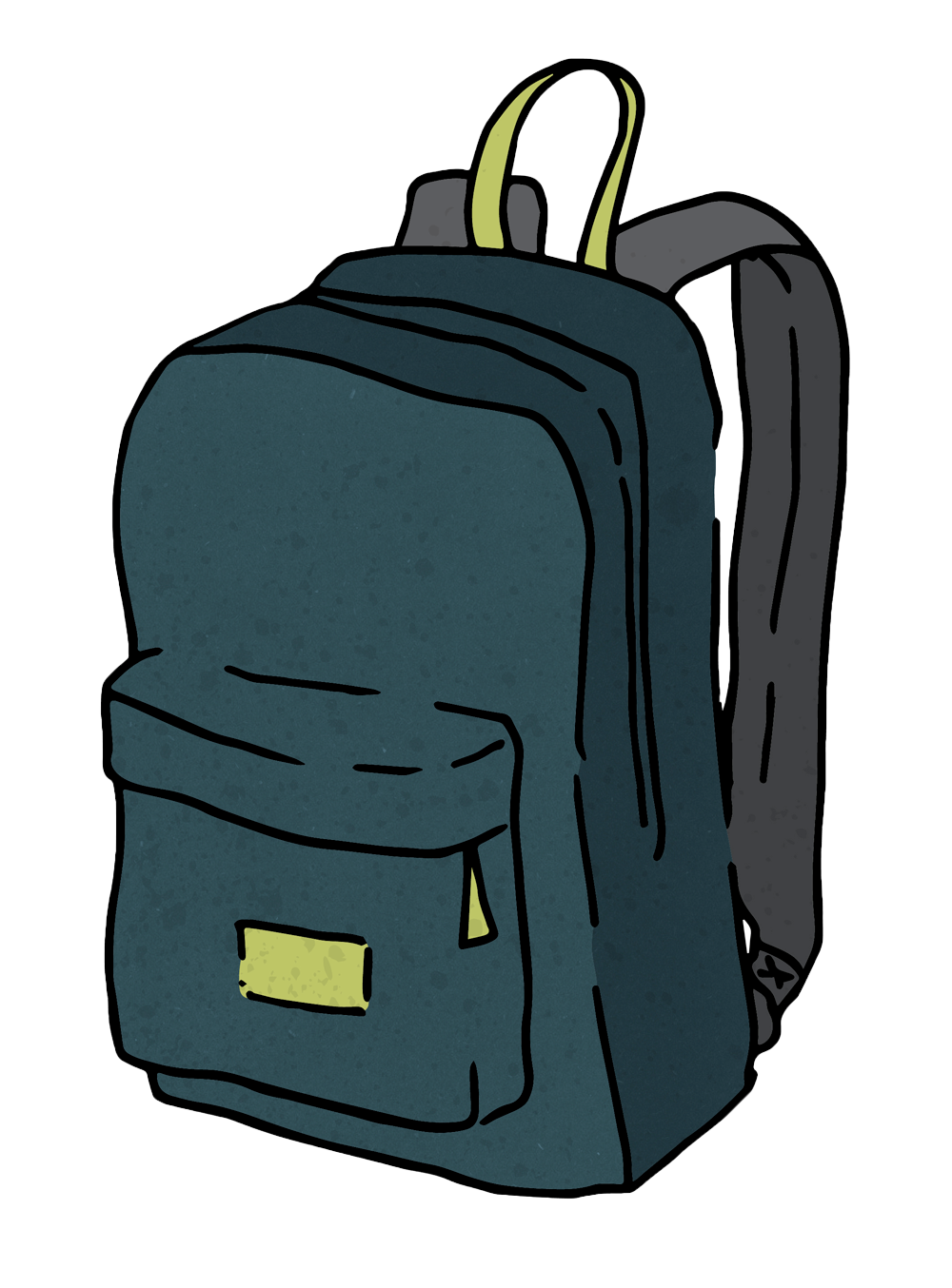 Cartoon backpack png. The evolution of an