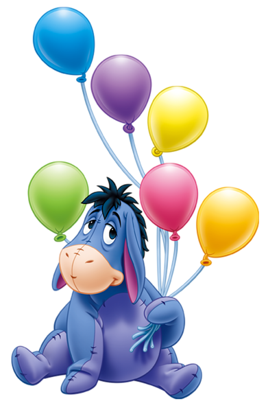 Cartoon balloons png. Eeyore with transparent disney