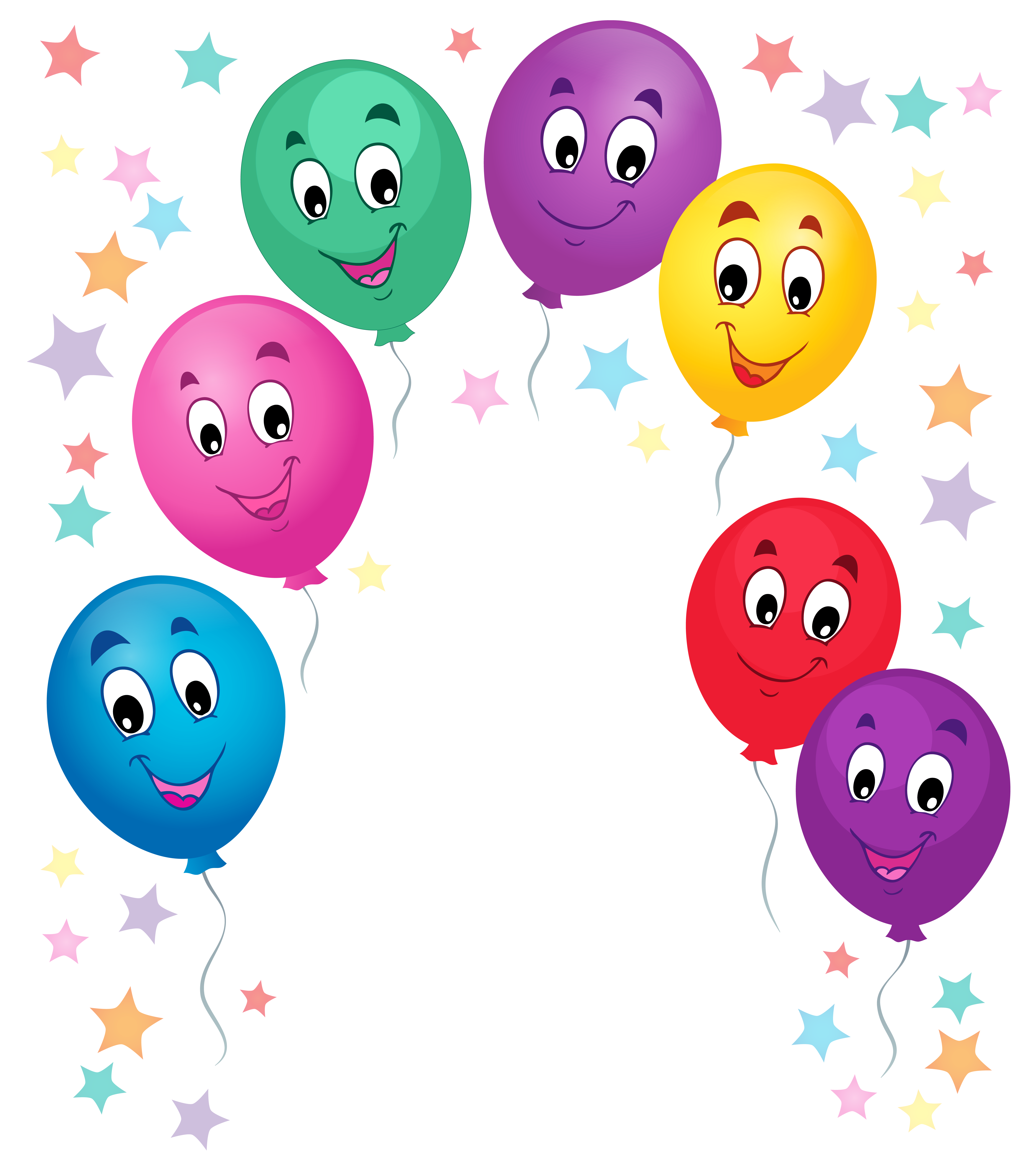 Cartoon balloons png. Decoration clipart picture gallery