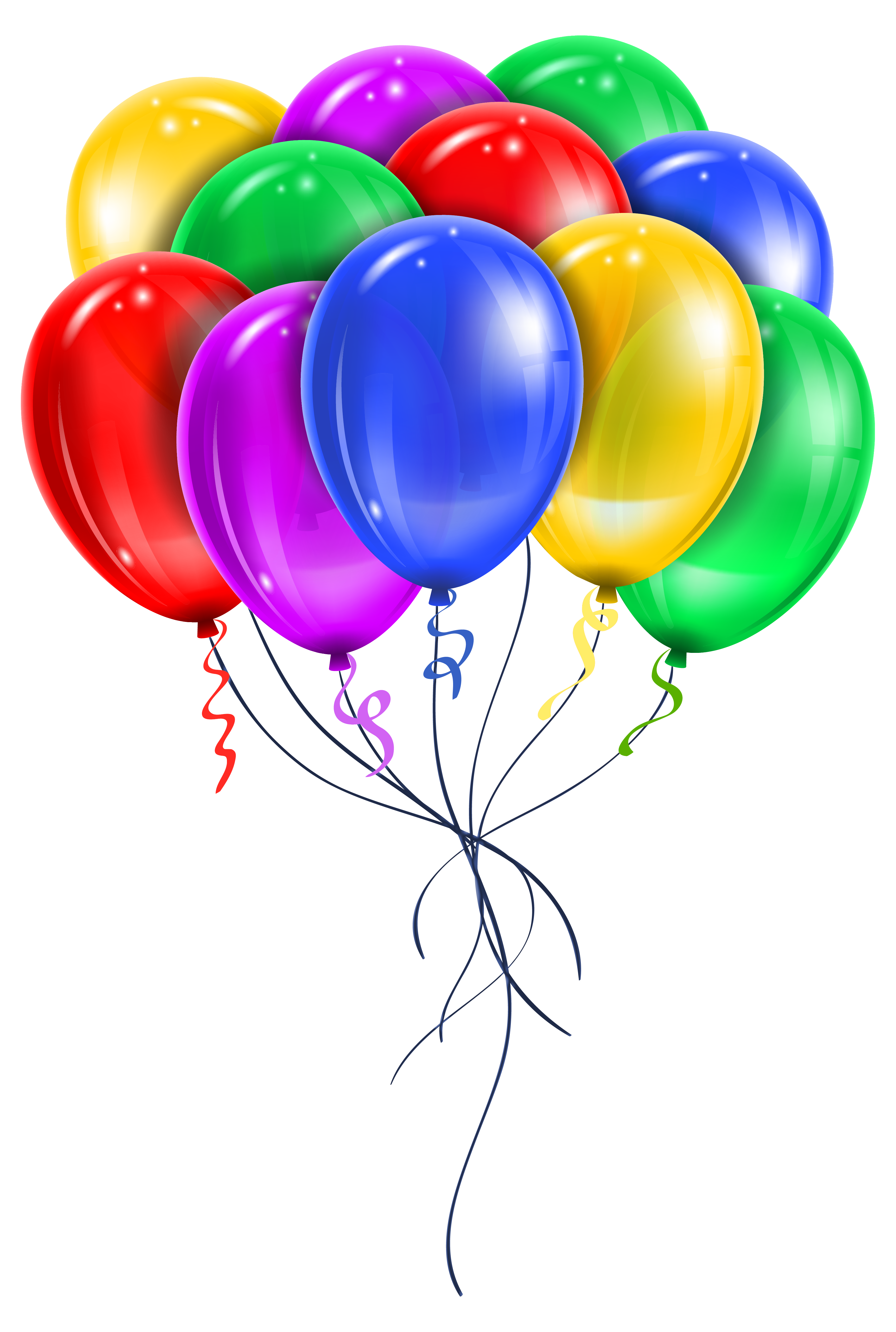 Ballons png. Transparent multi color balloons