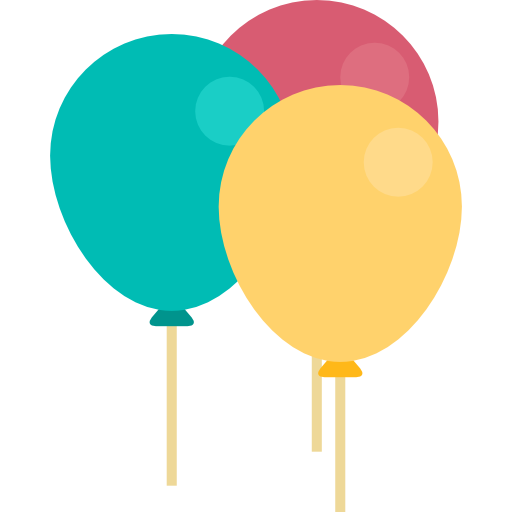 Cartoon balloons png. Carnival decoration party birthday