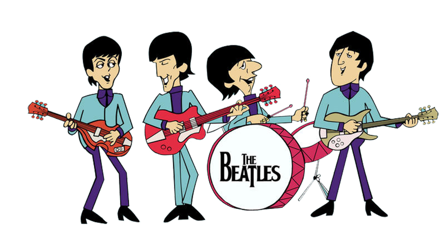 Cartoon band png. The beatles drive my