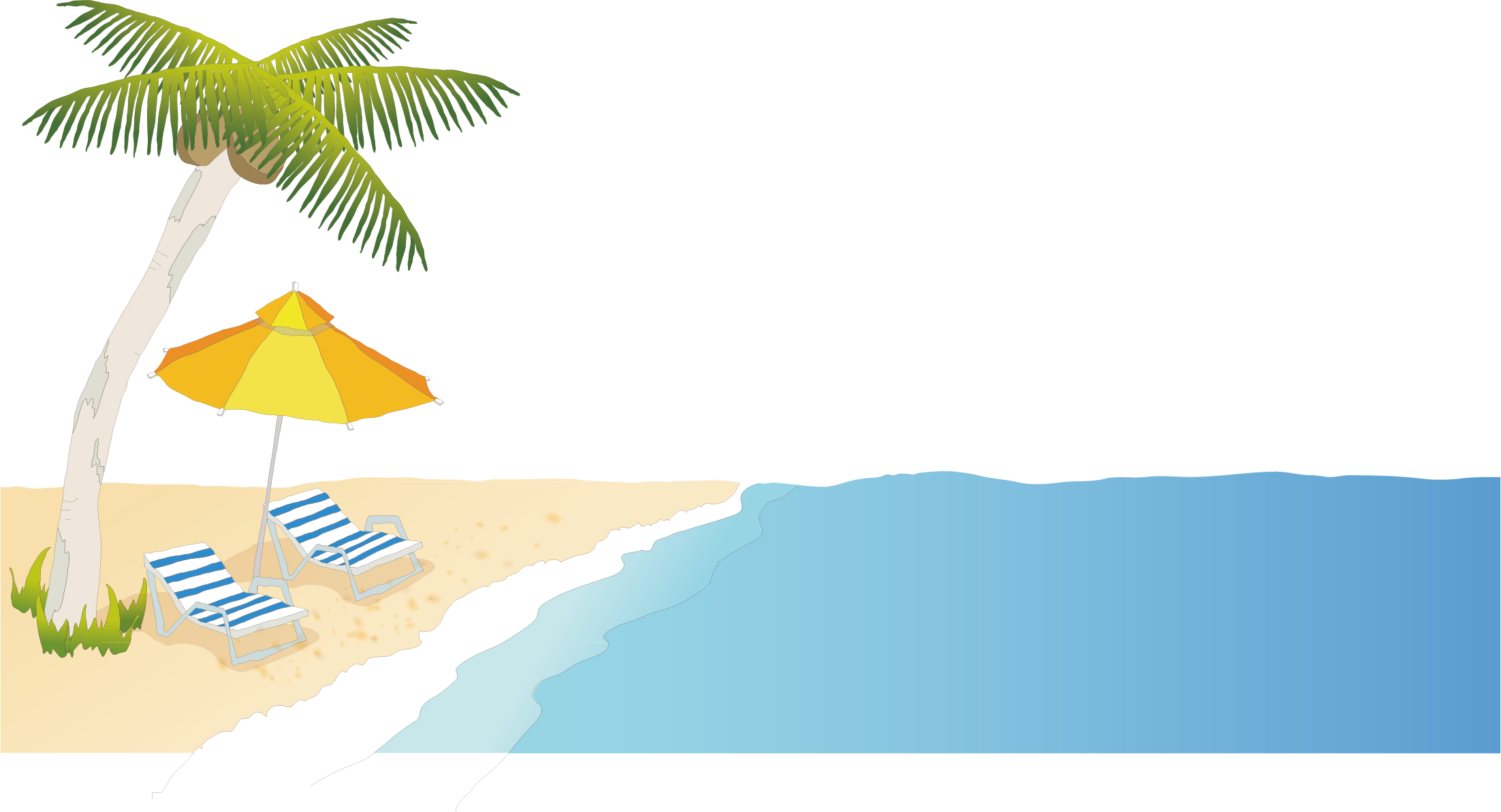 Cartoon beach png. Seaside transprent free download