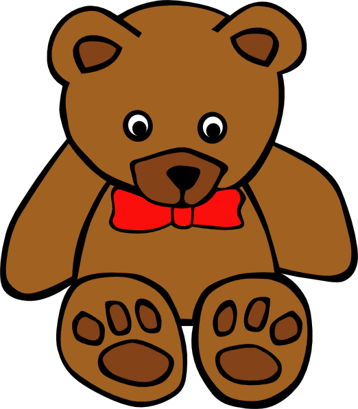 Cartoon bear png. Teddy simple with bow