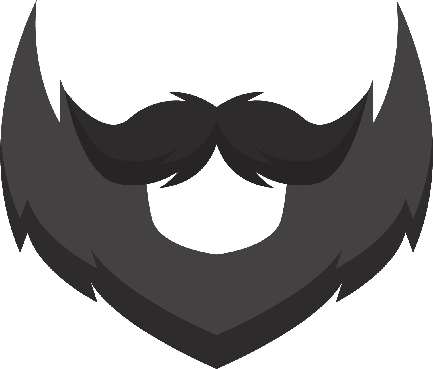 white goatee png