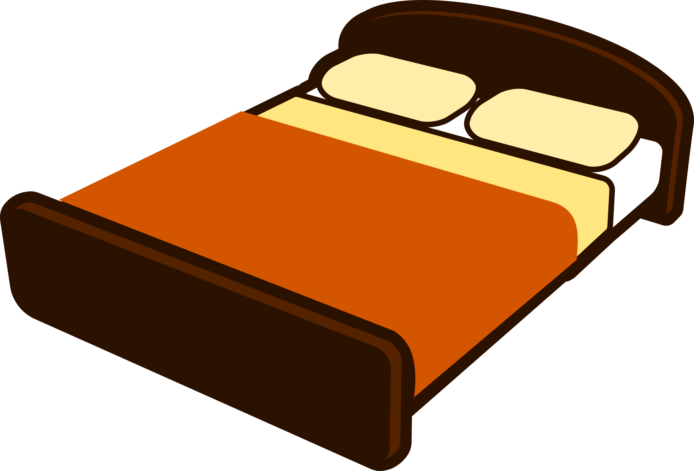 Cartoon bed png. Brown with blanket icons