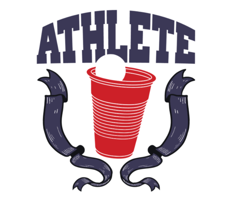 Cartoon beer png. Pong athlete label by