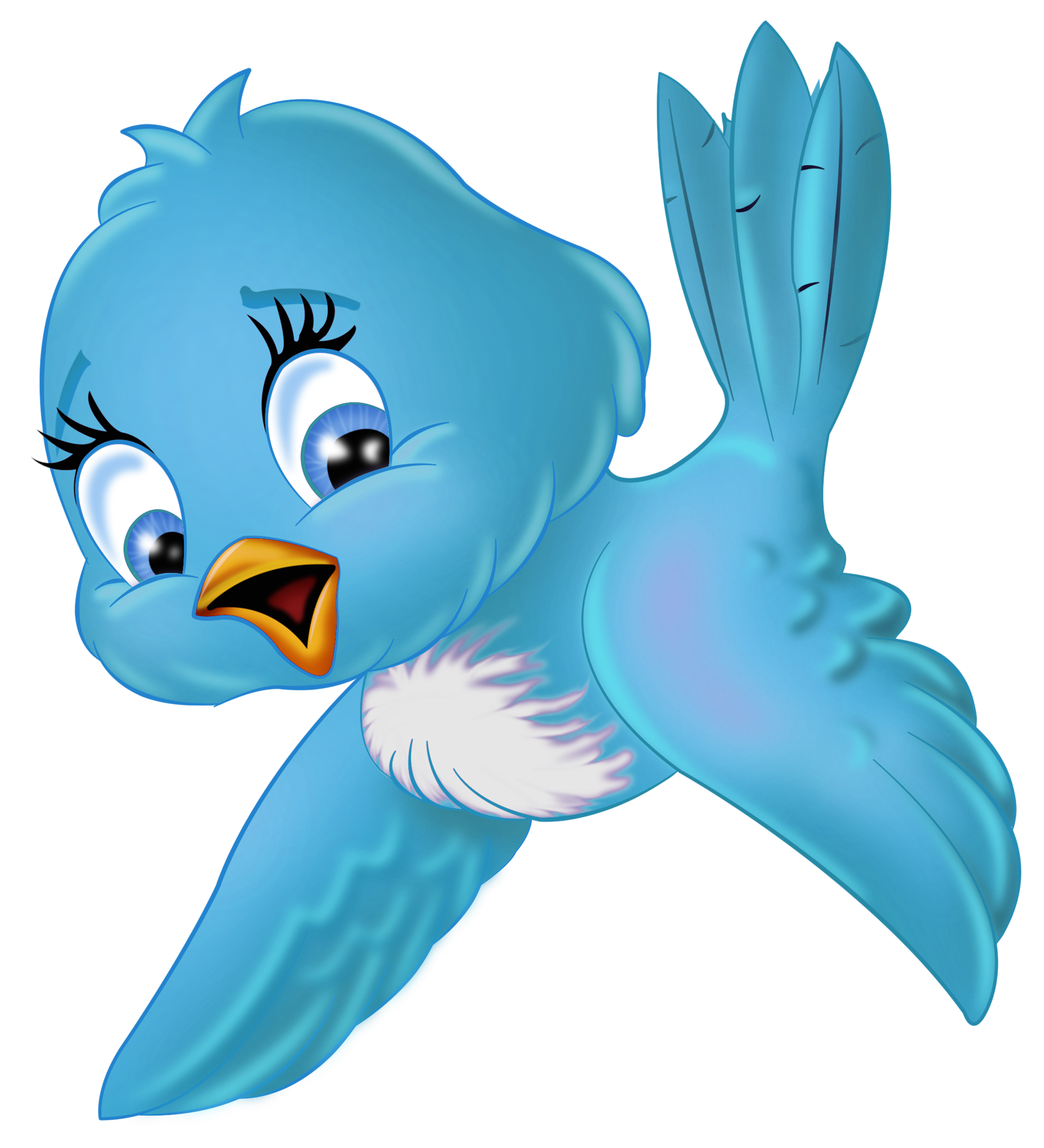 Large blue png clipart. Bird clip art cartoon vector transparent