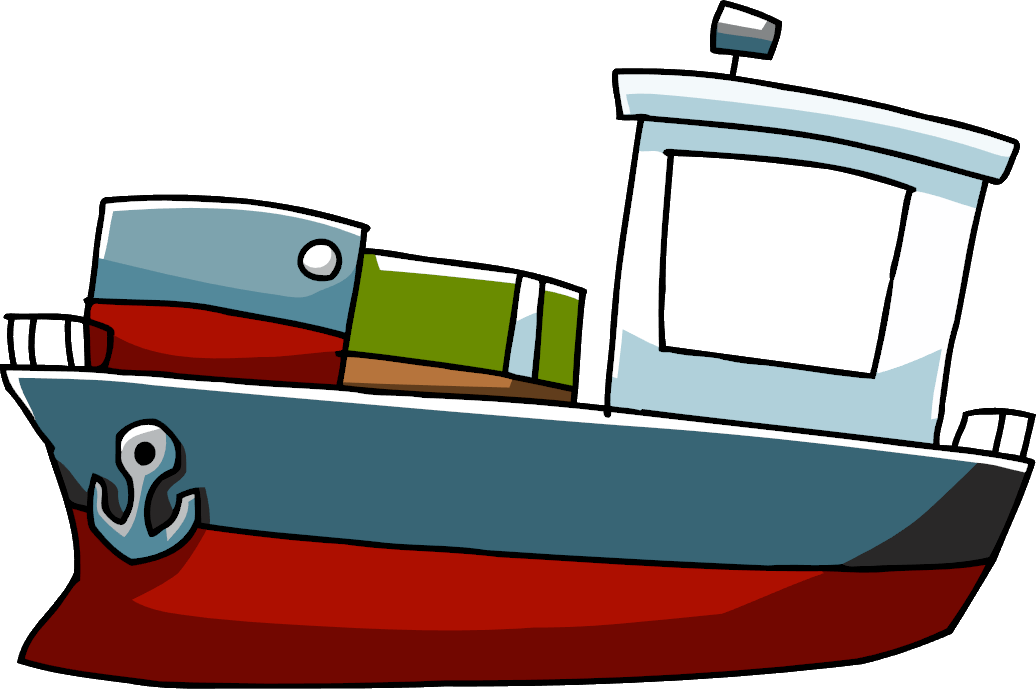 Cartoon boat png. Cargo ship scribblenauts wiki