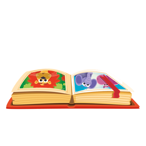 Cartoon book png. Transparent svg vector
