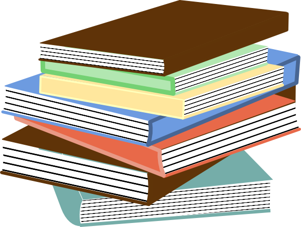Cartoon book png. Stack of books clip
