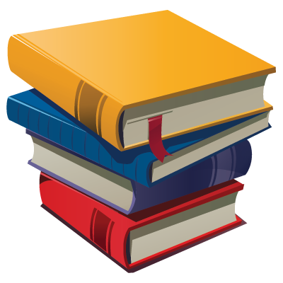 Book cartoon png. Stack of books clipart
