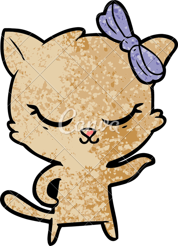 Cartoon bow png. Cute cat with photos
