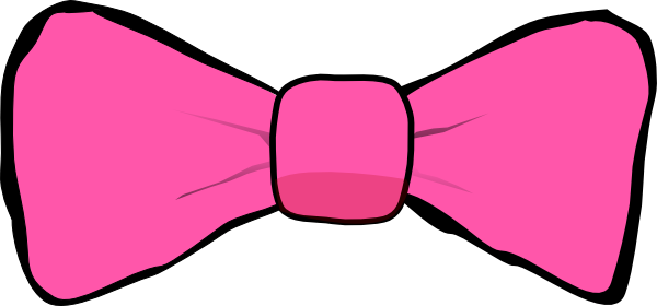 Pink with black trim. Vector bows bow tie jpg free