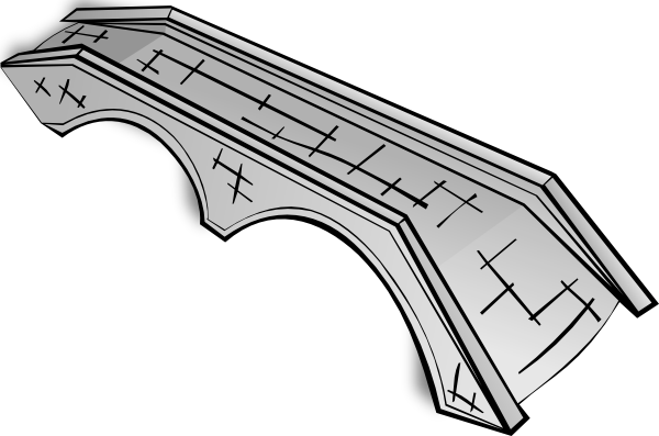 Cartoon bridge png. Stone clip art at