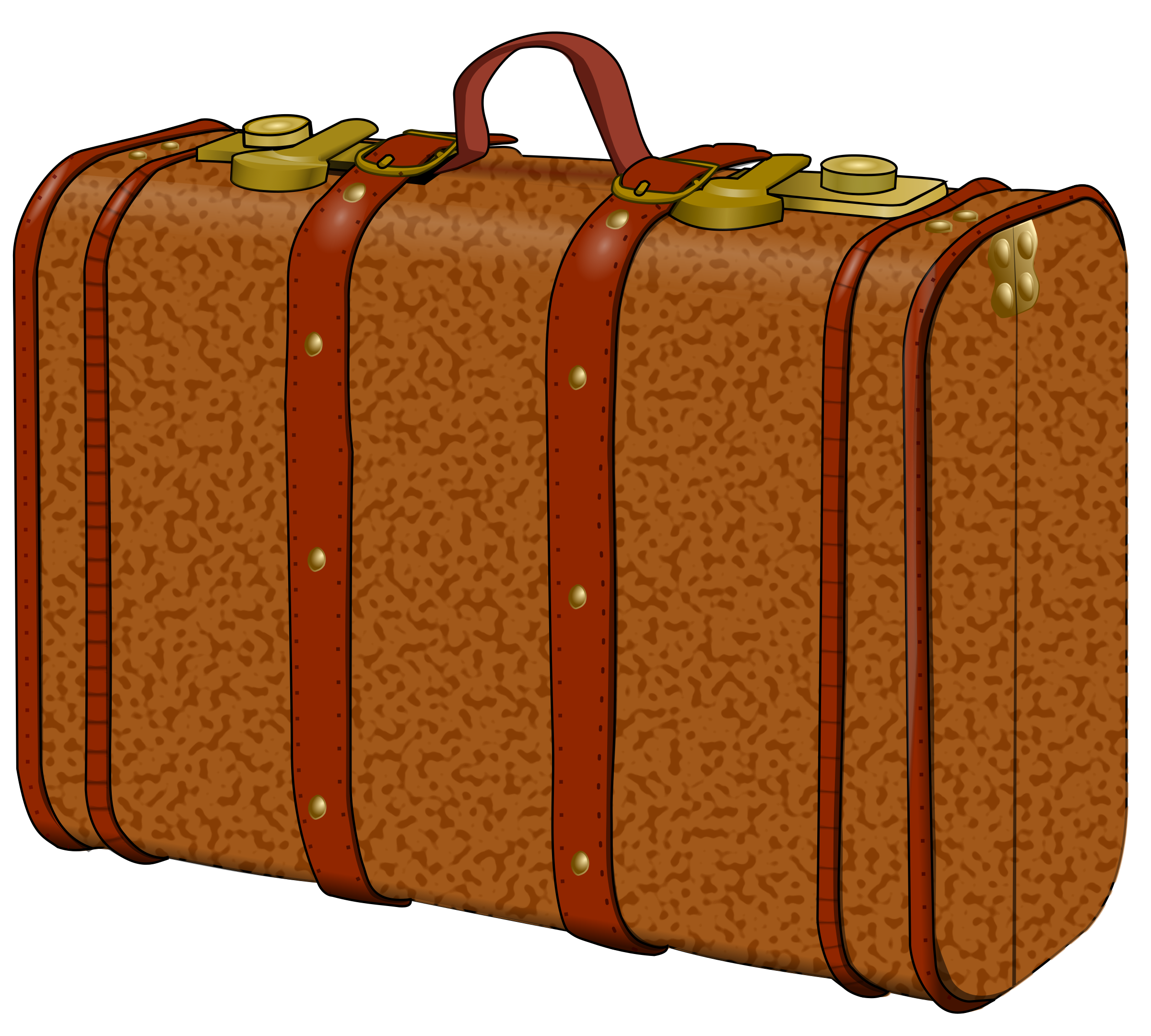 Cartoon briefcase png. Suitcase with stains icons