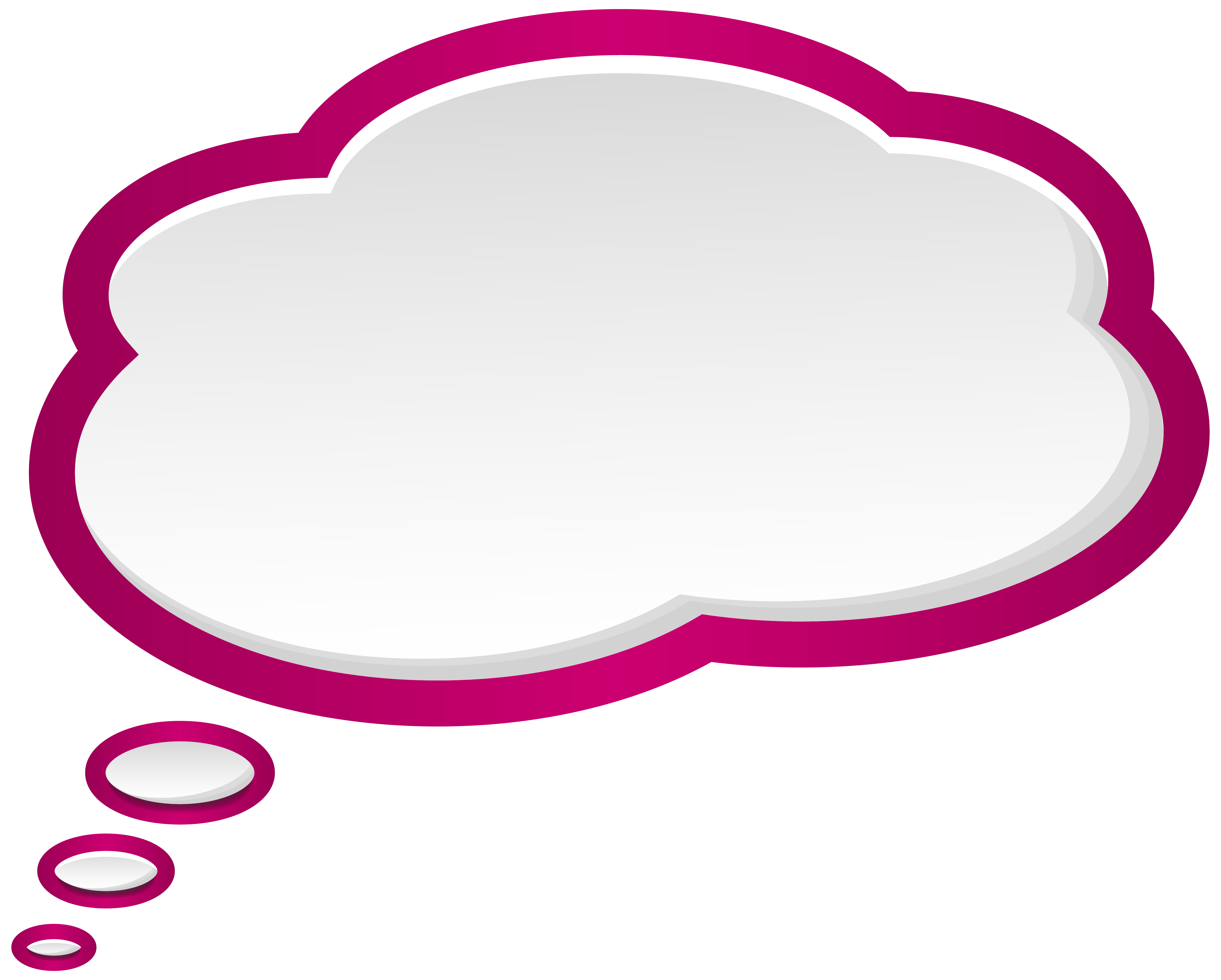 Cartoon bubble png. Speech pink white clip