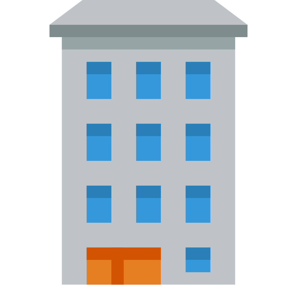 Cartoon building png. Icon small flat iconset