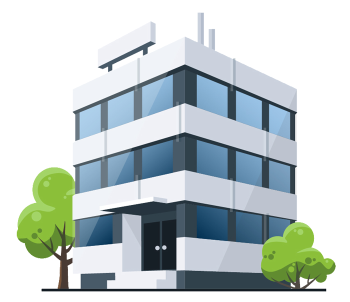 Cartoon building png. Royalty free medical office