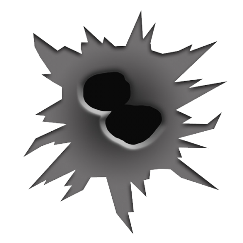 Cartoon bullet hole png. Nineteen isolated stock photo