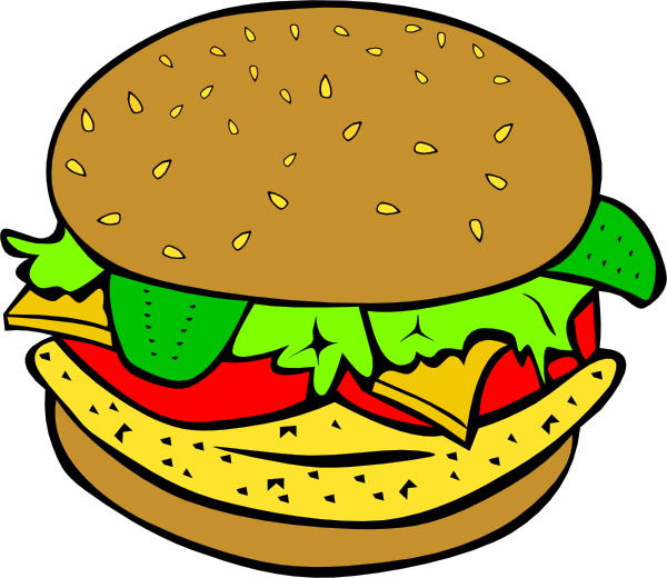 Cartoon burger png. Chicken clip art at