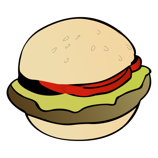 Hamburger cartoon png. American burger transparent svg